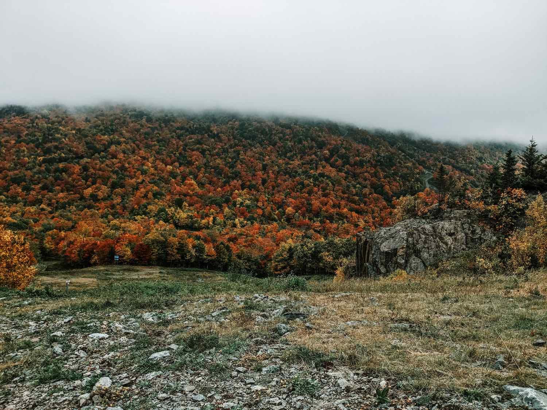 montagne en automne - Mont Orford
